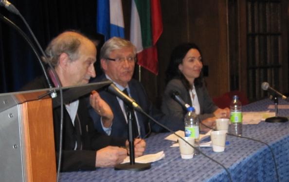 De g. à d. Christian Rioux, Denis Monière et Martine Ouellet