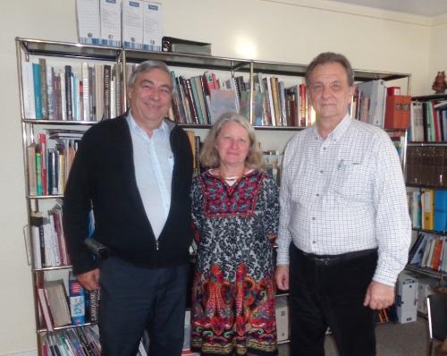 De g. à d. Denis Racine, Annick Notter, Christian Rouvreau, administrateur CFQLMC France