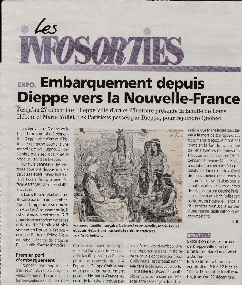 Article sur l'exposition dans Les Infosorties.