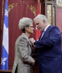 Sœur Madeleine Juneau, a été reçue Chevalière de l'Ordre du Québec