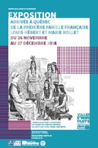 Affiche de l'exposition « Louis Hébert et Marie Rollet » à Dieppe ville d'art et d'histoire, place Louis-Vitet.