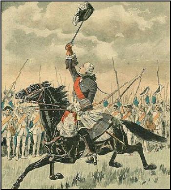 François Gaston de Lévis, victorieux de la bataille de Sainte-Foy