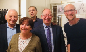 De g. à d.: M. Daniel Godefroy, Mme Bernadette Chevreau, M. Gilbert Trompas, M. Roger Barrette et M. Romain Santamaria.