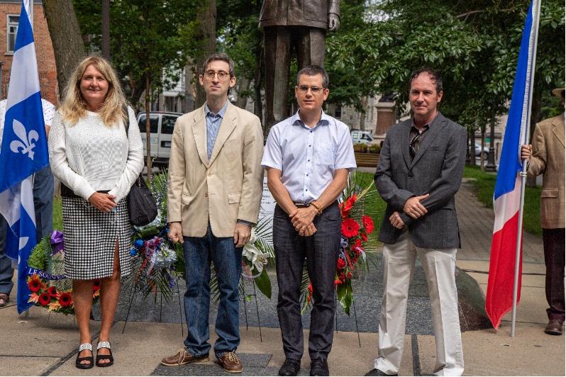 Cercle québécois des affaires internationales, Anne Fortin, M. Sylvain Lepage, M. Philippe Quesnel, M. Nicolas Contessi.