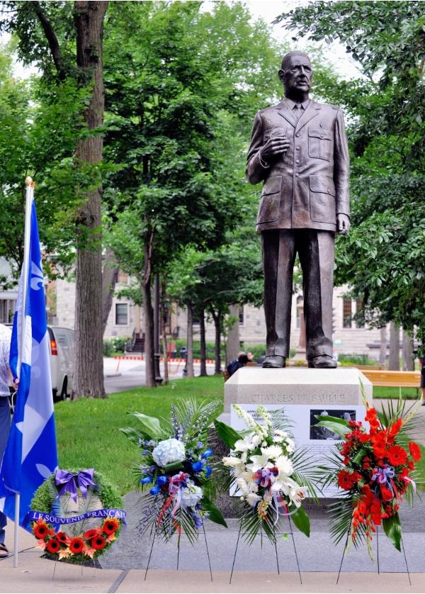 Commémoration du 80e anniversaire de l'Appel radiophonique du général de Gaulle aux Canadiens français, le 1er août 1940.