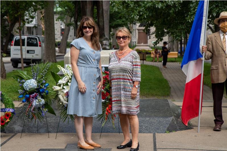 Fondation Lionel-Groulx, Mme Myriam D'Arcy et Mme Micheline Paradis.
