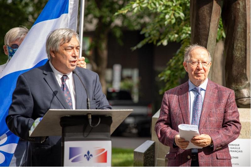 M. Denis Racine coprésident de la CFQLMC et M. Roger Barrette, secrétaire général de la CFQLMC.