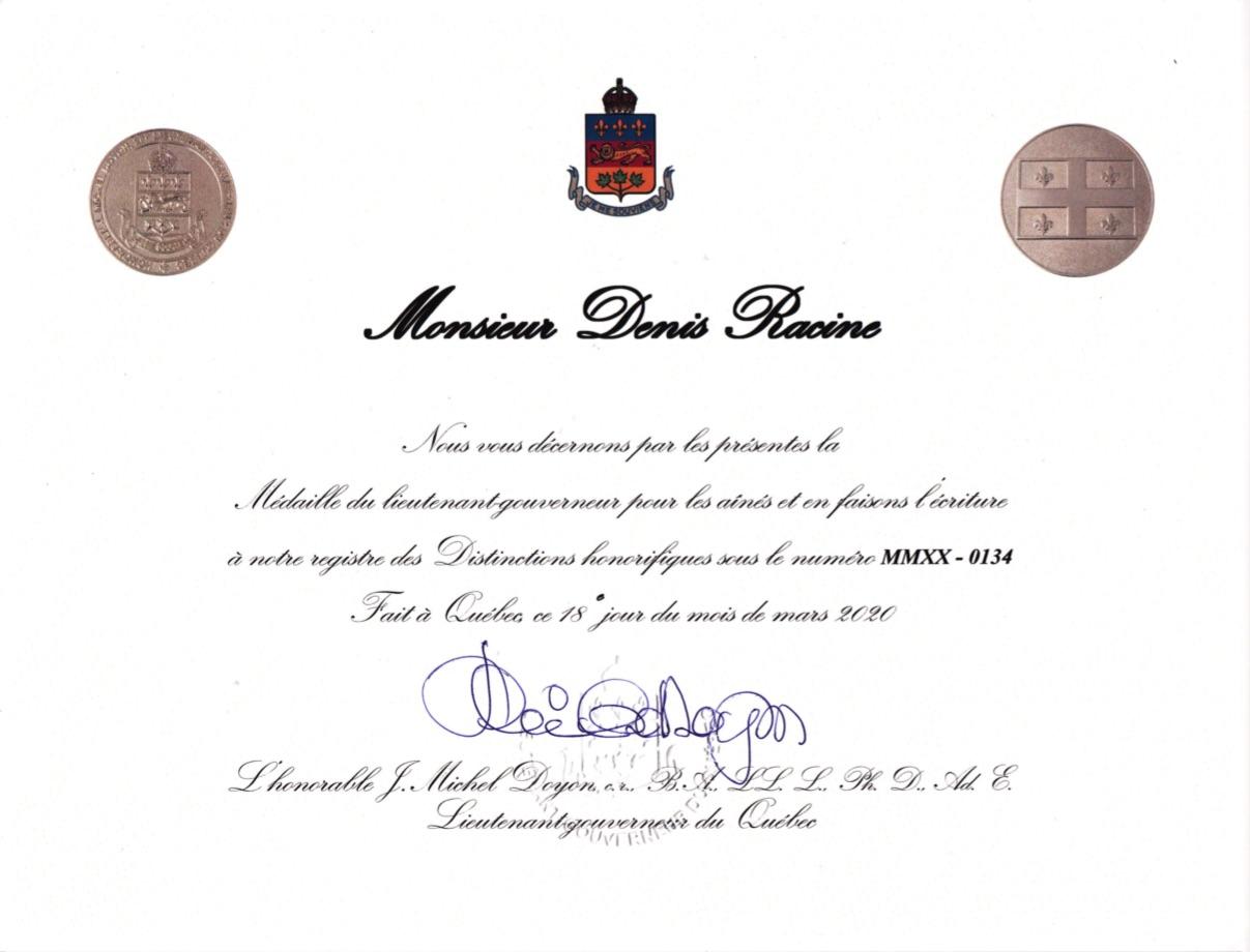 Certificat honorifique