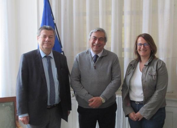 21 mai 2019 : Rencontre avec le maire adjoint de Troyes, M. Marc Sebeyran et la directrice de la culture, Sandine Lachai avec le président de la Commission.
