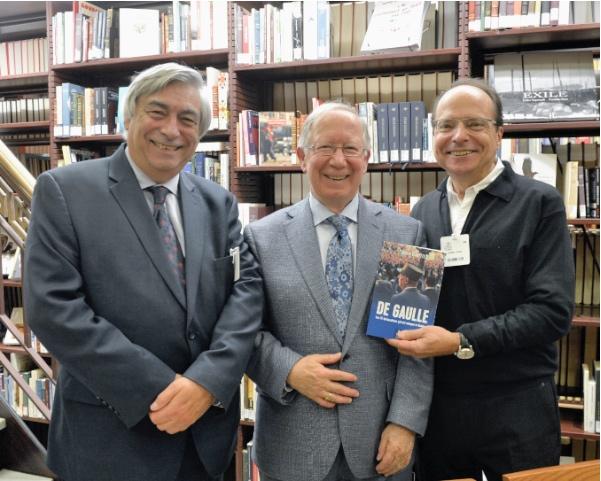 6 novembre 2019 : Denis Racine, Roger Barrette et Robert Trudel au lancement du livre de Roger Barrette à la Bibliothèque de l'Assemblée Nationale.